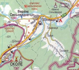 Карта проезда к водопаду Гуркало