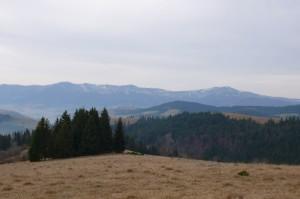 На горизонте - Полонина Боржава